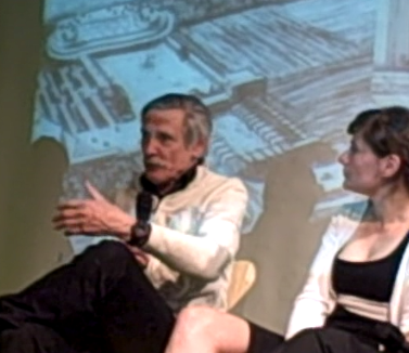 Archigram cofounder Mike Webb and Amale Andraos of WORKac