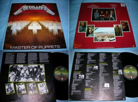 The original vinyl Master of Puppets packaging (European issue), via Johan's Metallica collection site