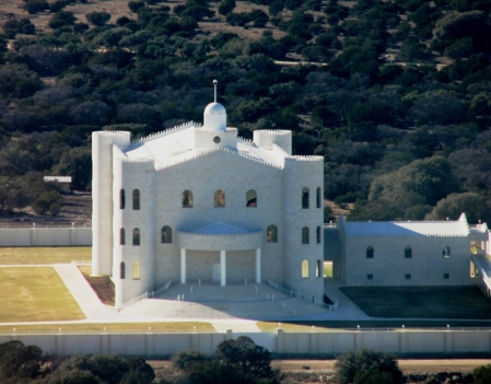 The limestone-clad FLDS temple in Eldorado, Texas. Photograph by J.D. Doyle.